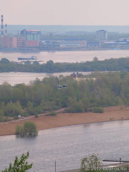 Фото канатной дороги в Нижнем Новгороде