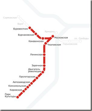 карта метро нижний новгород