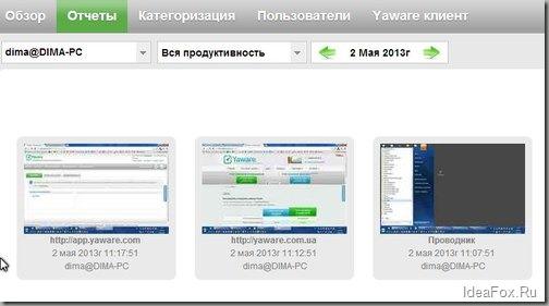 скриншоты рабочего стола сотрудника