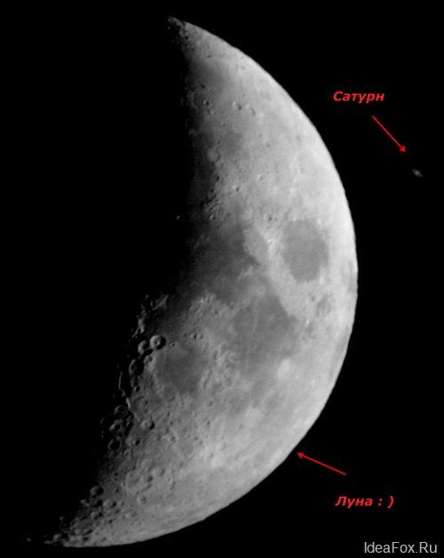 Покрытие Сатурна Луной в мае 2007 года