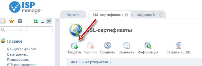 Подключение SSL-сертификата в ISP